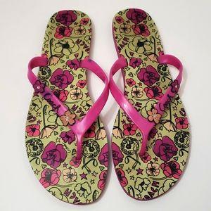 COACH Camela Floral Flip Flop Sandals size 11